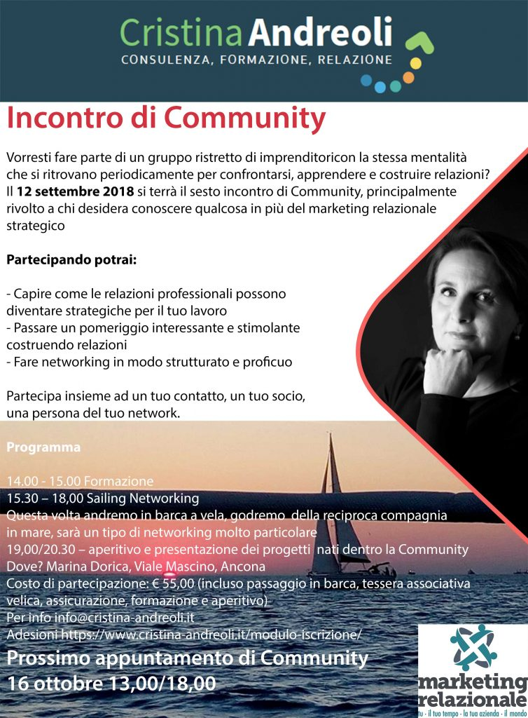 Sesto Incontro di Community – Sailing Networking